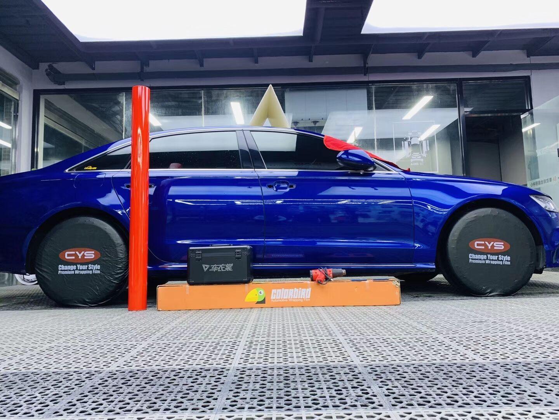 奥迪A6车身改色,法拉利红……准备施工(图2)